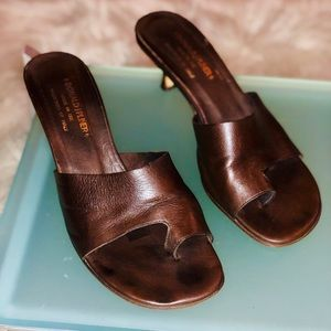 Donald Pliner Chocolate Toe Ring Sandal